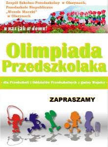 Plakat Olimpiada przedszkolaka