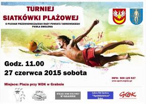 Plakat piłka plażowa Grabno